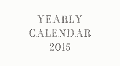 YEARLY CALENDER 2015 ロゴ